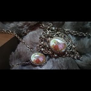 "Vintage Fragonard ""Courting Couple"" Necklace"